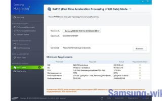 Режим Rapid в SSD Samsung – что это?