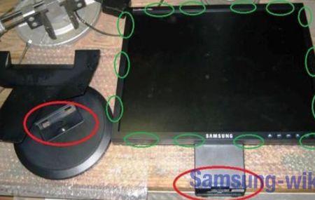 Как разобрать монитор Самсунг – пошаговая инструкция