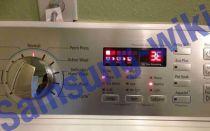 Значение ошибки 3e на стиральной машине Samsung