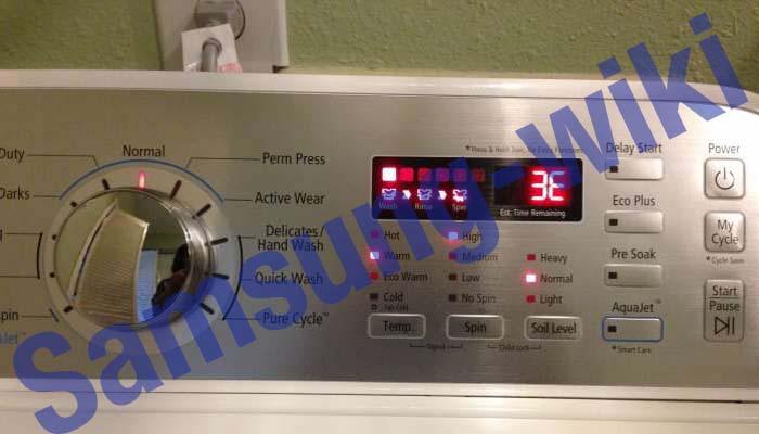 ошибка 3е на стиральной машине самсунг как исправить