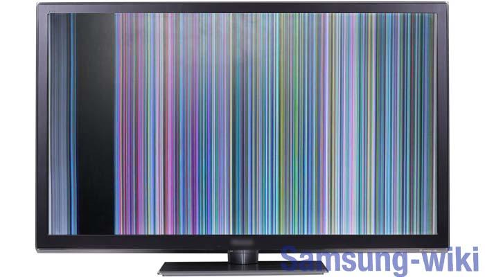 у телевизора самсунг пропало изображение а звук есть что делать