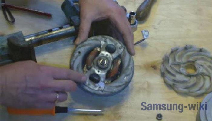 как проверить двигатель пылесоса самсунг