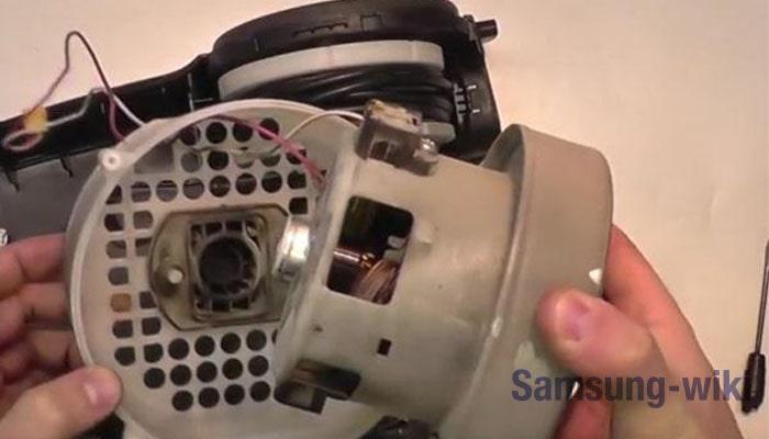 как разобрать двигатель пылесоса самсунг 1600w