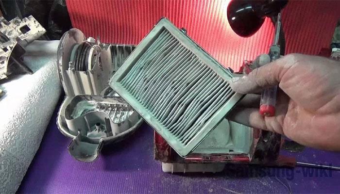 как разобрать пылесос самсунг 1600w