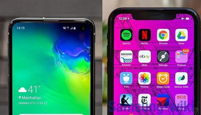 сравнить самсунг 10 и айфон 10