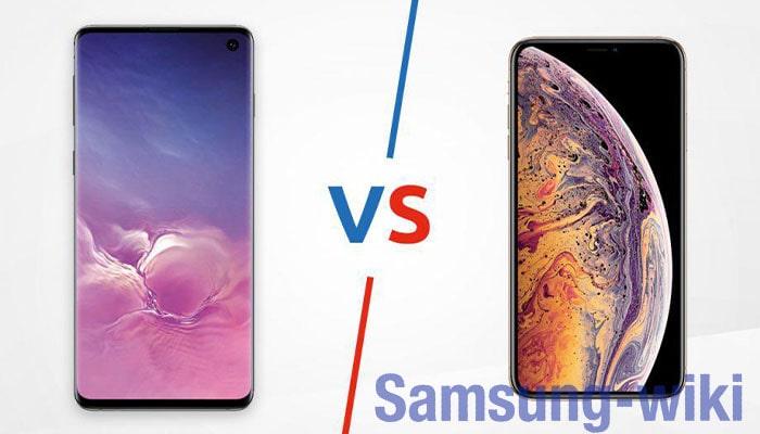 сравнение айфон xs и самсунг s10