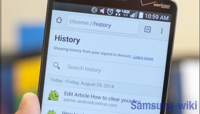 как посмотреть историю в яндексе на телефоне андроид самсунг